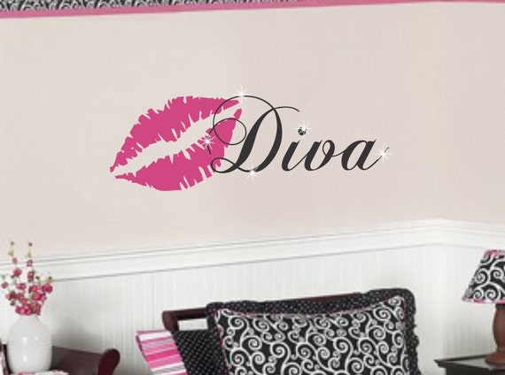 Teen Girl Vinyl Wall Decal Bedroom Decor by AllOnTheWallVinyl