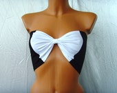 SEXY YOGA BOW Bandeau Underwear Lingerie Yoga Beach Bra Tube Strapless Top Bralette Black White Bow Bandeau Fetish Lingerie Bow Bandeau Top