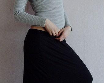 CASUAL SKIRT Skirt Maternity Non Maternity Long Jersey Pleated Boho Maxi Skirt In Black Black Skirts Floor Lenght Skirts Long Skirts