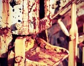 A Foot Up -  Photograph Antique Trains 8X12 Lomo Photography Rusty Steel Industrial Decor