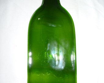 slumbped 750ml green wine bottle