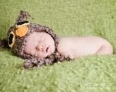PDF Owl Hat Pattern Newborn Crochet