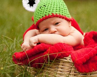 PDF  Frog Hat Crochet Pattern Newborn Photo Prop