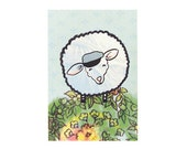"Little Boy Lamb Children's Illustration, Print 8.5""X11"""