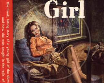 Reefer Girl - 10x14 Giclée Canvas Print of a Vintage Pulp Paperback Cover