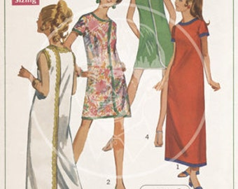 Vintage Dress Pattern Illustration (8001) - 10x15 Giclée Canvas Print