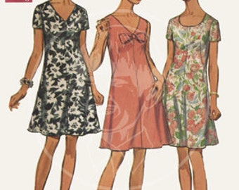 Vintage Dress Pattern Illustration (8217) - 10x15 Giclée Canvas Print