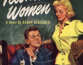 Tell Me About Women - 10x15 Giclée Canvas Print of a Vintage Pulp Paperback Cover