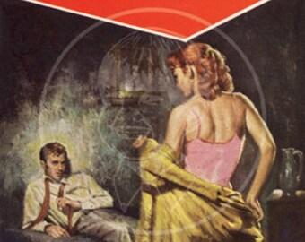 Vice Squad Cop - 10x15 Giclée Canvas Print of a Vintage Pulp Paperback Cover