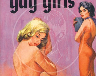 All the Gay Girls - 10x17 Giclée Canvas Print of a Vintage Pulp Paperback cover
