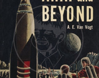 Away and Beyond - 10x15 Giclée Canvas Print of a Vintage Pulp Paperback Cover