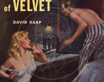 The Brotherhood of Velvet - 10x15 Giclée Canvas Print of a Vintage Pulp Paperback cover