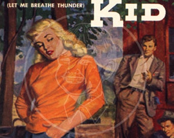 Tough Kid - 10x15 Giclée Canvas Print of a Vintage Pulp Paperback