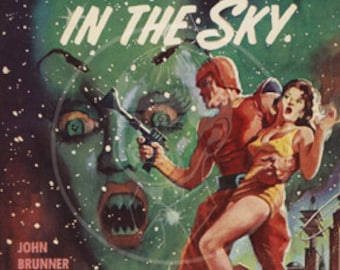 Sanctuary in the Sky - 10x15 Giclée Canvas Print of a Vintage Pulp Paperback cover