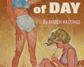 The Heat of Day - 10x17 Giclée Canvas Print of Vintage Pulp Paperback