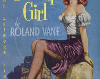 Pick-Up Girl - 10x14 Giclée Canvas Print of Vintage Pulp Paperback