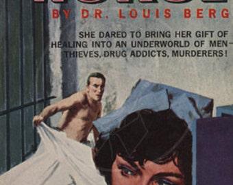 Prison Nurse - 10x17 Giclée Canvas Print of Vintage Pulp Paperback