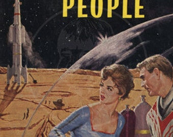 The Tomorrow People - 10x17 Giclée Canvas Print of Vintage Pulp Science Fiction Paperback