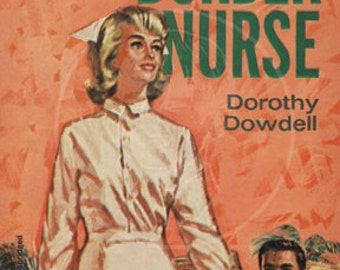 Border Nurse - 10x15 Giclée Canvas Print of a Vintage Pulp Paperback Cover