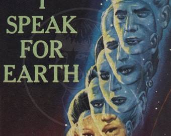 I Speak for Earth - 10x16 Giclée Canvas Print of a Vintage Pulp Science Fiction Paperback Cover