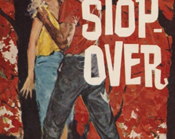 Stop-over - 10x15 Giclée Canvas Print of a Vintage Pulp Paperback Cover