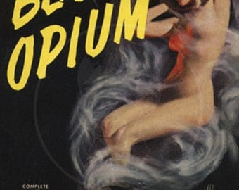 Black Opium - 10 x 17 Giclée Canvas Print of Vintage Pulp Paperback