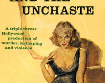 The Chased and the Unchaste - 10 x 17 Giclée Canvas Print of Vintage Pulp Paperback