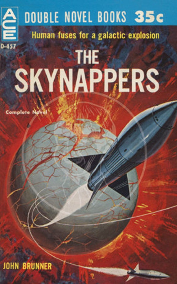 The Skynappers  - 10x16 Giclée Canvas Print of a Vintage Science Fiction Pulp Paperback Cover