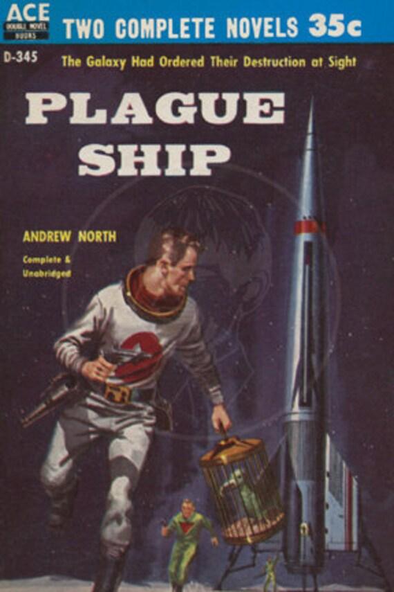 Plague Ship  - 10x15 Giclée Canvas Print of Vintage Pulp Science Fiction Paperback