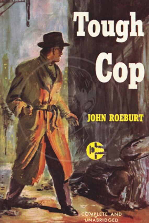 Tough Cop  - 10x15 Giclée Canvas Print of Vintage Pulp Paperback
