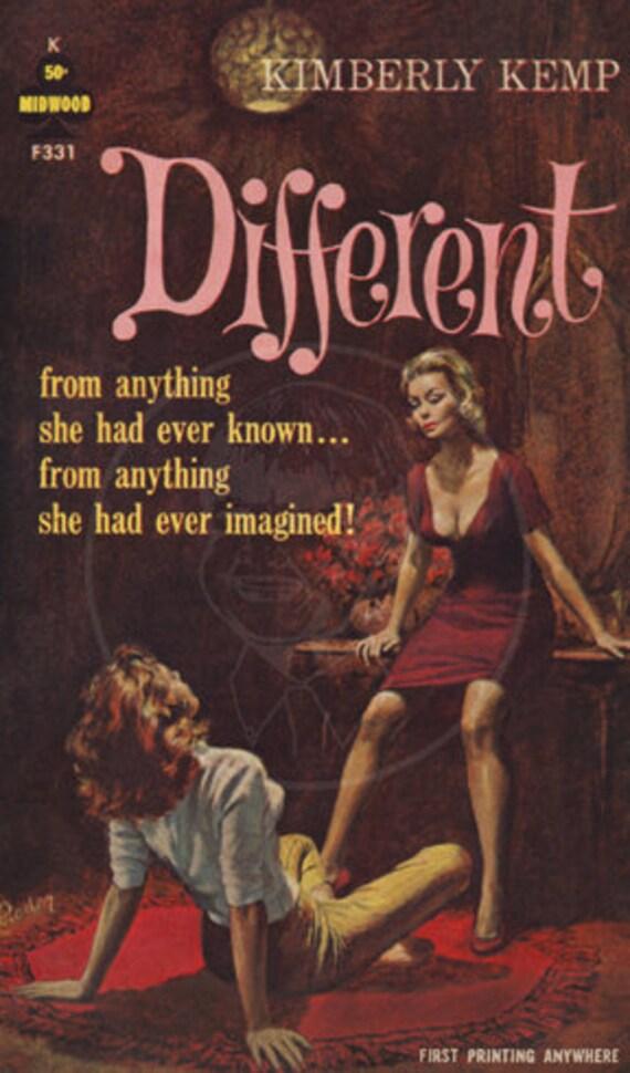 Different - 10 x 17 Giclée Canvas Print of Vintage Lesbian Pulp Paperback