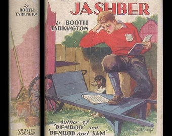 Penrod Jashber by Booth Tarkington - Vintage  Book Published by Grosset and Dunlap 1943 Hardcover with Dust-Jacket