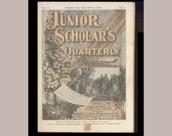 Junior Scholar's Quarterly, 1921 Sunday School Magazine with Lessons Pertaining to the teachings of  St. Paul