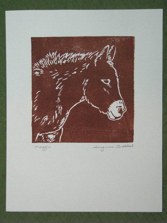 """Mule block print - """"Maggie"""""""