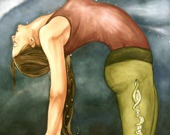 yoga art print by Claudia Tremblay