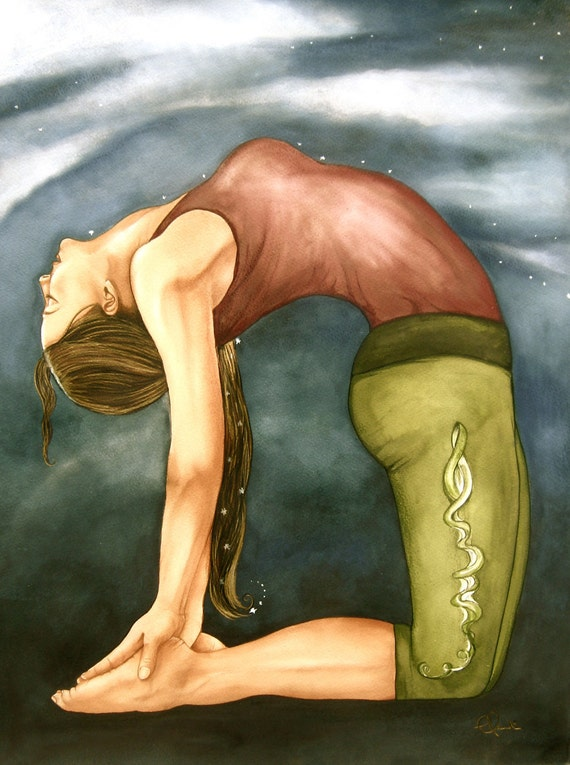 yoga art print by Claudia Tremblay