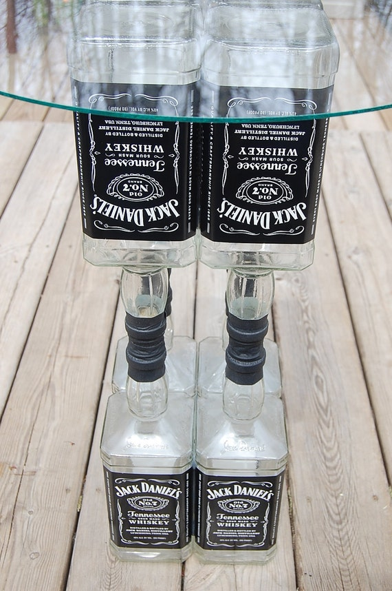Items similar to jack daniels table liquor bottle recycled for Things to do with empty liquor bottles