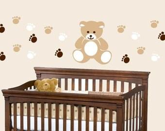 Teddy Bear Nursery Kids Vinyl Wall Decal Sticker