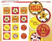 "Toy Cowgirl Printable 2"" Party Circles - DIY Print - Cowboys & Cowgirls"