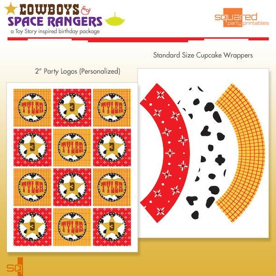 Toy Cowboy Printable Cupcake Kit
