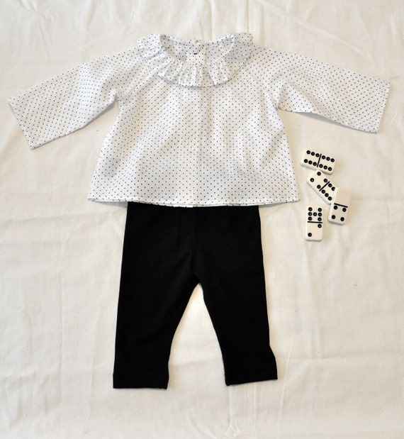 Ruffle collared baby top, in cotton voile