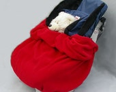 The NUZZLER II by Baby Polar Gear - Toddler Convertible Car Seat Cover Blanket - Last one-Red!