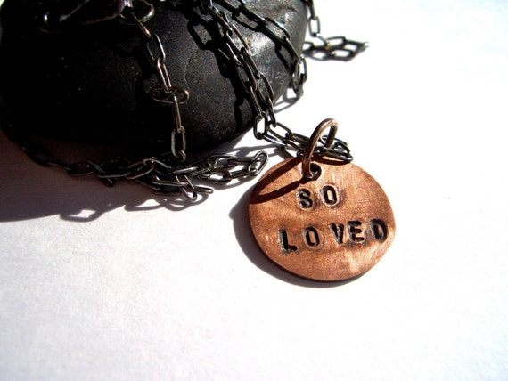 Copper Charm Necklace:  So Loved