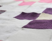 Couverture de bebe en laine - upcycled wool baby quilt
