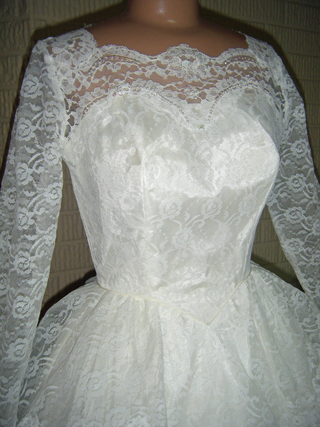 Items Similar To Vintage Wedding Dress Lace 1960s On Etsy