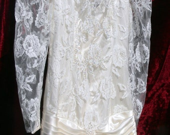 Bridal Wedding Dress with Pearls size 0