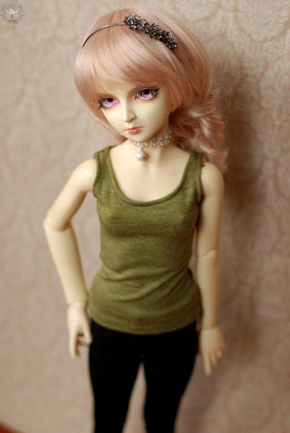 Super Dollfie Olive Singlet Top For SD BJD - Last One