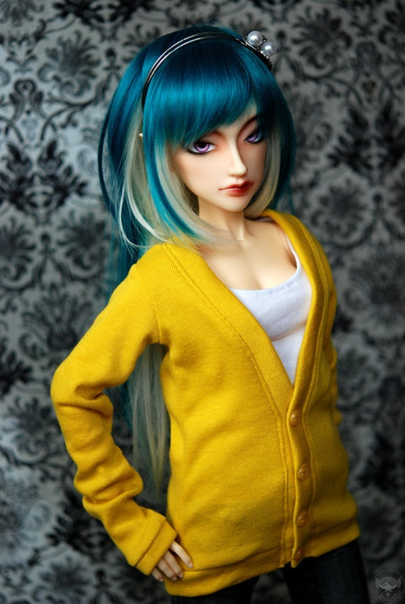 SD Yellow Cardigan For BJD Delf - Last One - Free Shipping Black Friday Cyber Monday