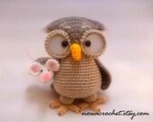 Owl Henriette - amigurumi PDF crochet pattern
