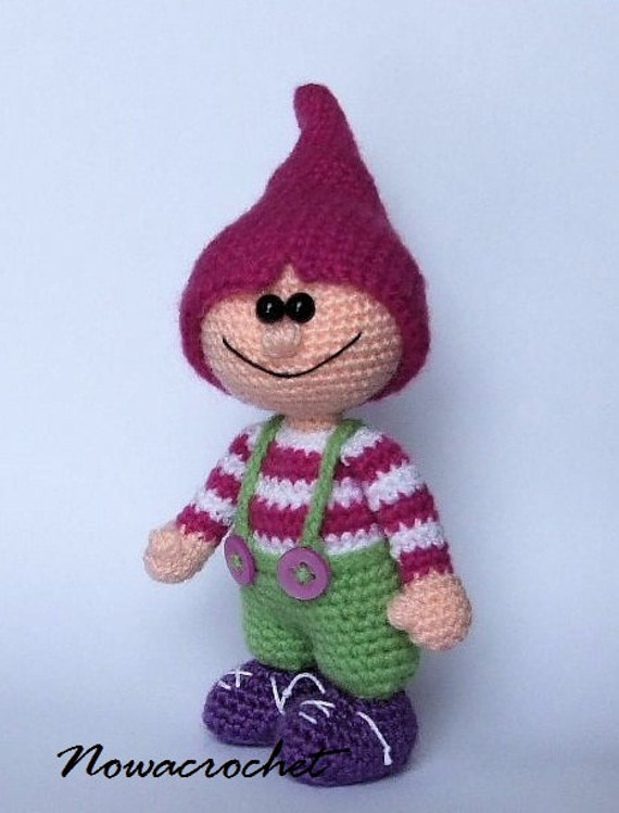 Gnome amigurumi PDF crochet pattern by Nowacrochet on Etsy